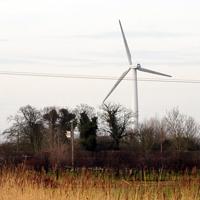 Brynna single wind turbine, South Wales