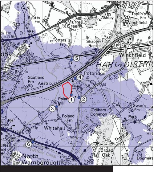 Potbridge-zone-theorectial-visibility