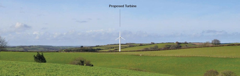 Slade Farm, 50kW single wind turbine, Devon