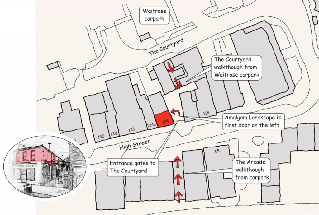 Amalgam Landscape Town Centre Map